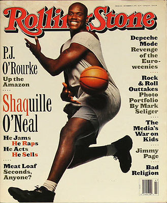 Rolling Stone 11/23/1993 Music Magazine  Shaq Jimmy Page  Meat Loaf Bad Religion
