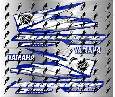 yamaha banshee full graphics decals kit 2006 blue