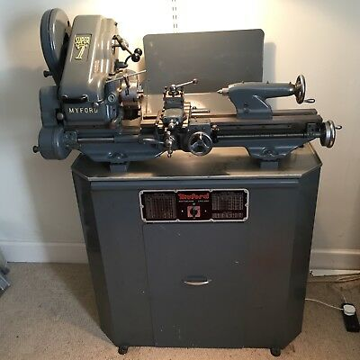 Myford Super 7 Lathe with Three Jaw Chuck And Key