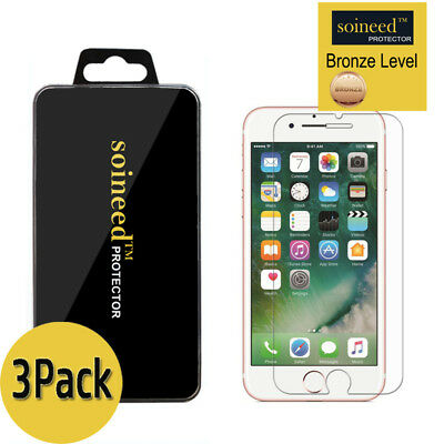 [3-Pack] SOINEED Apple iPhone 8 Or iPhone 8 Plus Tempered Glass Screen Protector
