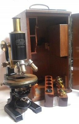 CARL ZEISS  PROFESSIONAL MICROSCOPE circa 1900. NEAR PERFECT CONDITION