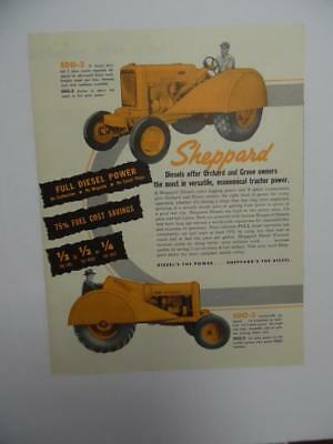 c.1950 Sheppard Diesel Orchard Grove Tractor Catalog Brochure Hanover PA Vintage
