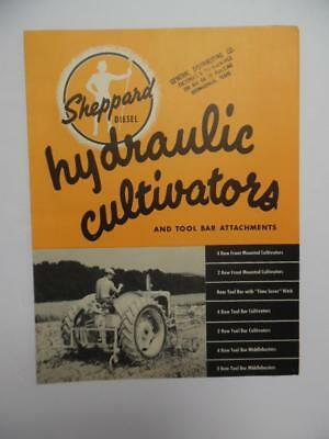 c.1950 Sheppard Diesel Tractor Cultivator Tool Bar Catalog Hanover PA Vintage