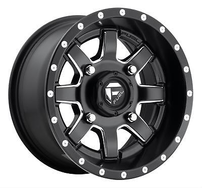 26x7 FUEL D538 4x136 ET13 Matte Black Rims New Set (4)