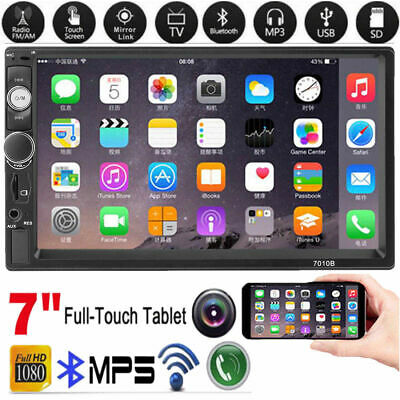 """7"""" 2DIN HD Car MP5 MP3 Player Bluetooth Touch Screen Stereo Radio FM Video USB"""