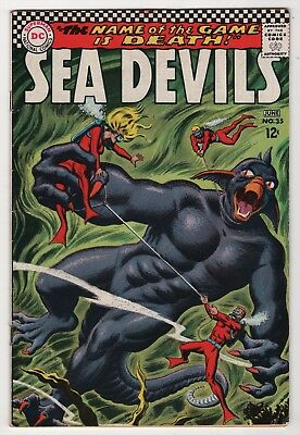 Sea Devils #35 FN 6.0 nice copy grey-tone cover 1967 DC create-a-lot & save