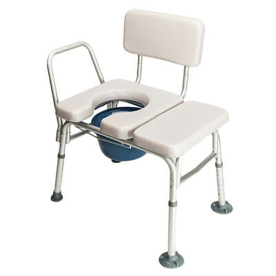 Toilet Chair Shower Commode Seat Bedside Bathroom Medical Potty Stool Adult Grey