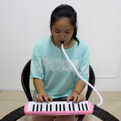32 Piano Keys Melodica for Music Lovers Beginners Gift with Bag Pink F3B4