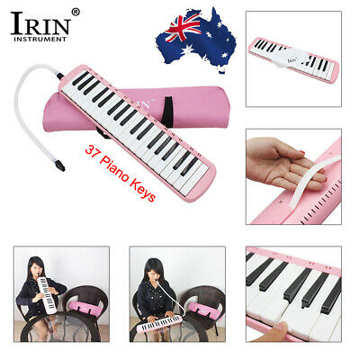 37 Keys Melodica Pianica Musical Instrument with Bag for Students Blue M2X5