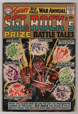Sgt Rocks Prize Battle Tales 1964 DC new Kubert cover 80-page giant create-a-lot