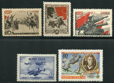 Russia Lot Of 13  Mint Never Hinged Original Gum Stamps