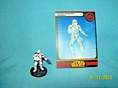 WotC Star Wars Miniatures Clone Trooper Gunner, RotS 11/60, Republic, Common