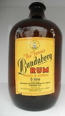 Bundaberg Rum #05 - Millaquin Sugar Co. Glass Flagon Bottle