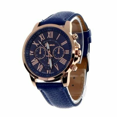 Top Brand Geneva Brand Watches Women Casual Roman Numeral Watch For Women PU Lea