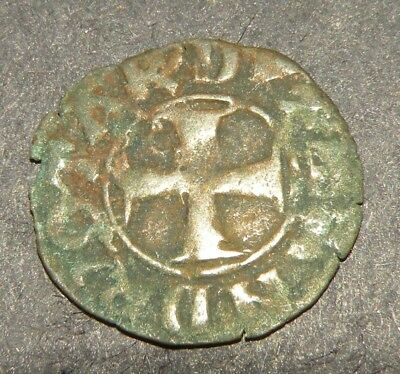 Crusader Iron Cross Antique Coin 1100-1300 Europe Medieval Ancient Beauty Christ