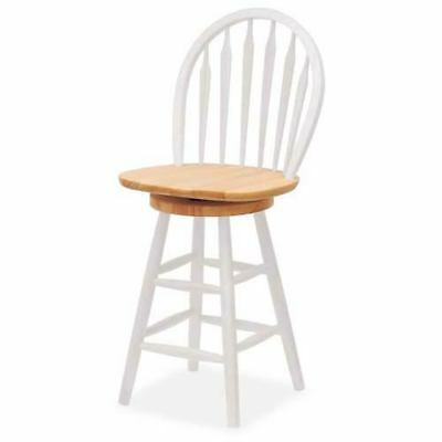 Winsome Wood Windsor 24 Inch Swivel Bar Stool 53624 7816