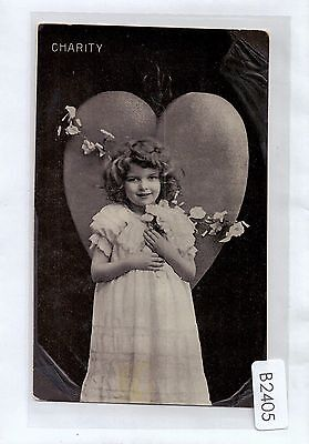 B2405cgt Glamour Girl Charity Graphic vintage postcard