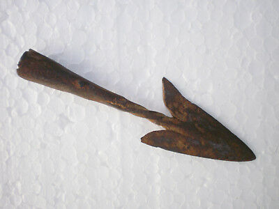 ANCIENT RARE Authentic Viking Iron Arrowhead ca  9 - 10 century AD ##