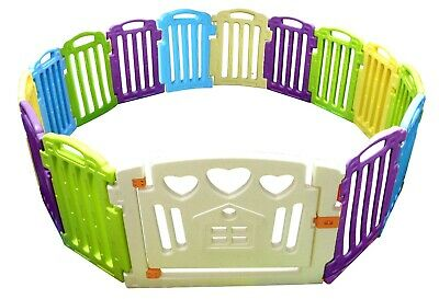 14+1 Side Plastic Baby Playpen Colorful PlayPen With Education Functions UKStock