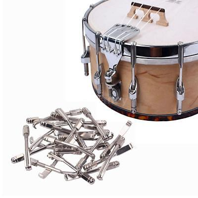 24pcs Hooks and Nuts Metal Chrome Plated Parts for Banjo U0G5