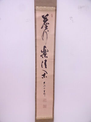 3606725: Japanese Wall Hanging Scroll / Hand Painted / Calligraphy