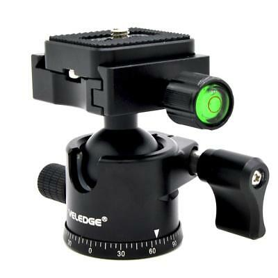 Rotation Tripod Ball Head with Quick Release Plate for Monopod Mount Camera