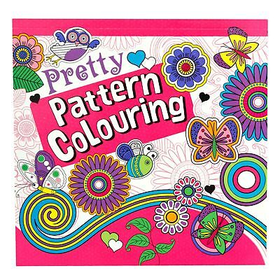 Pretty Pattern Colouring In Book Lined Drawings Designs For Kids And Adults