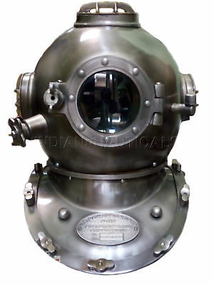 Us Navy Marine Gift Antique Solid Brass Sea Scuba Divers Diving Helmet Antique