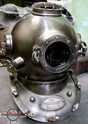 Us Navy Solid Brass Sea Scuba Marine Gift Antique Divers Diving Helmet