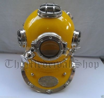Scuba  Navy Diving Helmet Collectibles Mark V Diving Divers Helmet 18 Inch