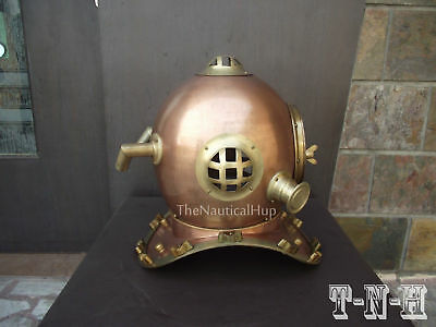 Anchor Antique Scuba Copper Divers Diving Helmet US Navy Mark V Deep Sea Helmet