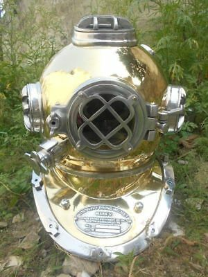ALUMNI DIVING DIVERS VINTAGE HELMET U.S Navy MARK V VINTAGE BRASS DIVING HELMET