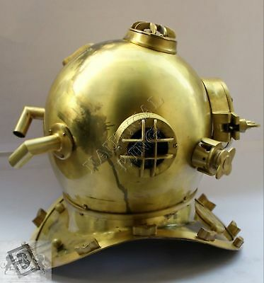 US Navy Mark V Antique Maritime Divers Diving Helmet Deep Sea Marine Reproducton