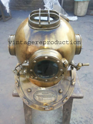 US Navy Mark V Antique Scuba SCA Divers Diving Helmet Deep Sea Marine Divers