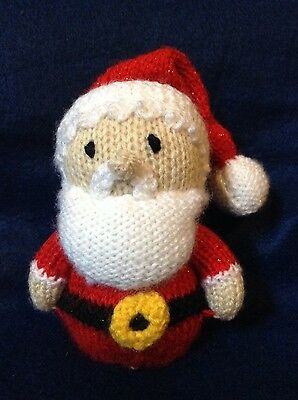 KNITTING PATTERN - Father Christmas Santa Claus orange cover or 15 cms toy