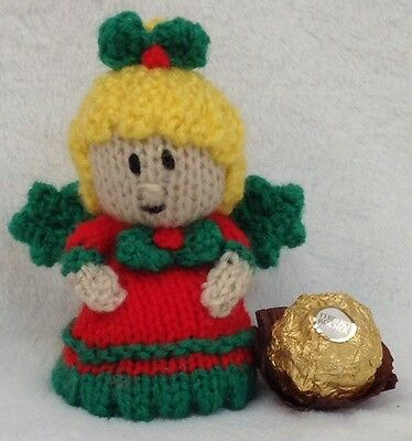 KNITTING PATTERN - Christmas fairy with holly wings choc cover ...
