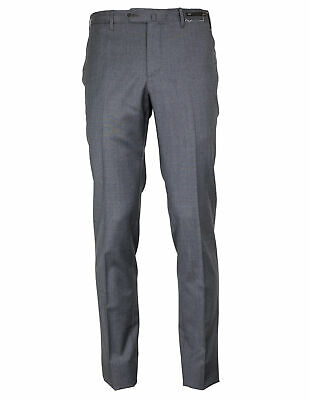 PT01 Deluxe Trousers Slim Fit in Grey Made of 100% Loro Piana Zealand Merino