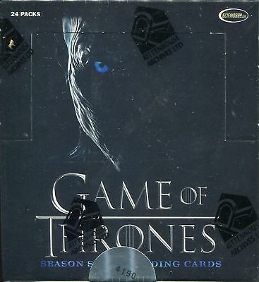 Game Of Thrones Season 7 Factory Sealed Hobby Box [24 Packs]