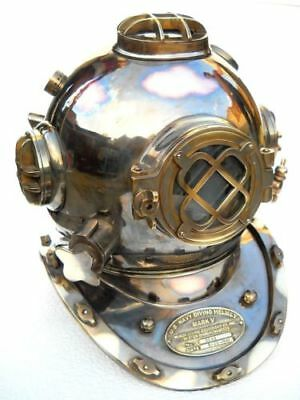 Antique  Vintage Sea Replic Solid Copper Old Nautical Diving Helmet Diving Scuba