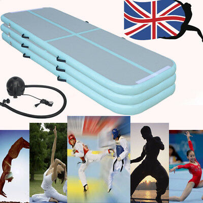 118 X 35 inches Gymnastics Inflatable Air Track Tumble Yoga outdoor Training Pad