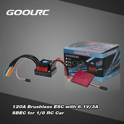 GoolRC S-120A Brushless ESC with 6.1V/3A SBEC & Programming Card for 1/8 RC F3R7