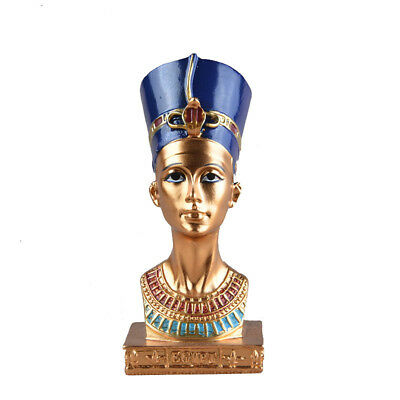4.5'' Ancient Resin Egyptian Pharaoh Collectible Figurine Statue Sculpture Decor