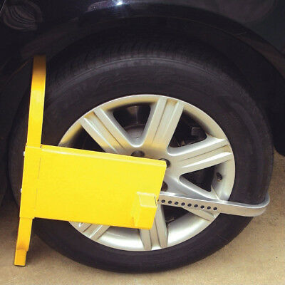 Wheel Clamp Tyre Lock Security Anti Theft Car Van Caravan Trailers Small Truck