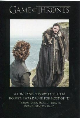 Game Of Thrones Season 7 Quotable Chase Card Q65