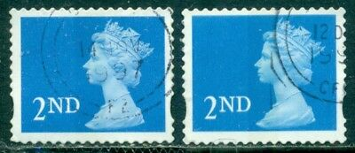 Great Britain Sg-1976, Scott # Mh-308 Machin, Used, 2 Stamps, Great Price!
