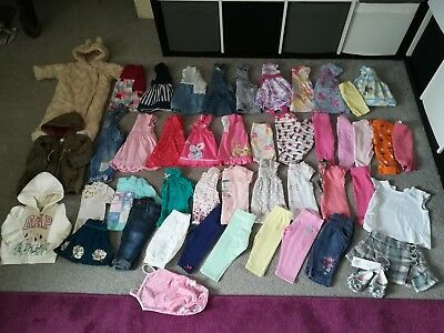 Baby girls 3-6 months clothes bundle . 48 items / dresses outfits coats gap