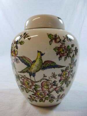 Bird Of Paradise, Ginger Jar, Ceramic, Crown Devon Fieldings