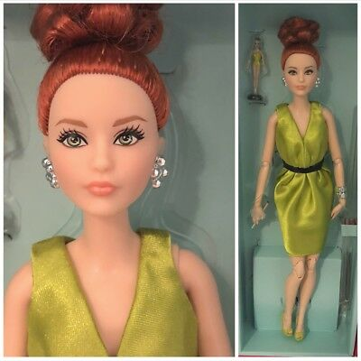 Barbie Convention RFDC 2017 Roma Couture Doll Red Hair Green Outfit Rome