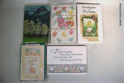 Lot of 220 Easter Greeting Cards w/ envelopes wholesale retail mixed