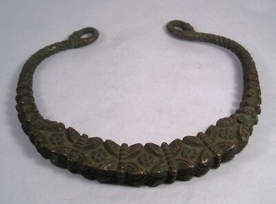 Antique Asian Hand Made Bronze Jewelry Tribal Ceremonial Object 02 L22